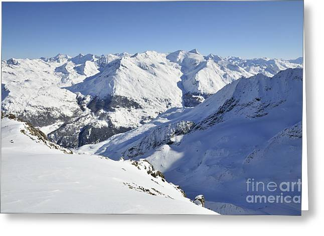 Wintry Photographs Greeting Cards - Aiguilles de la Grande Sassiere Greeting Card by Andy Smy
