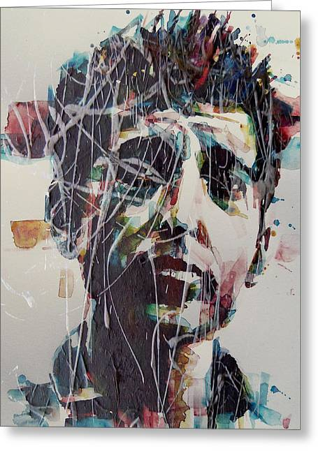 Singer Songwriter Greeting Cards - Aint Gonna Work On Maggies Farm No More  Greeting Card by Paul Lovering
