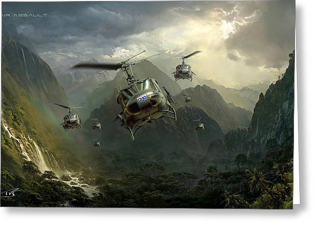 Iraq Greeting Cards - Air Assault Greeting Card by Peter Van Stigt