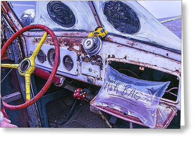 Dash-board Greeting Cards - Air Bag Greeting Card by Garry Gay