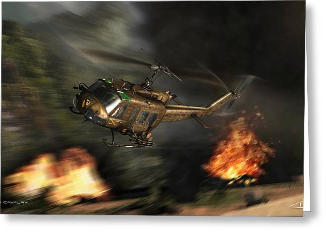 Wwi Greeting Cards - Air Cavalry Greeting Card by Peter Van Stigt