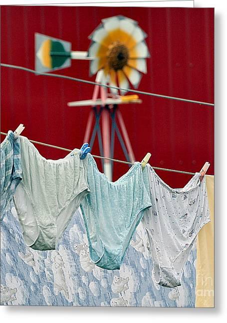 Air Drying Greeting Card by Jan Piller