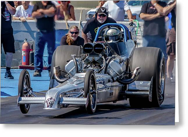 Air Force Dragster Greeting Card by Bill Gallagher