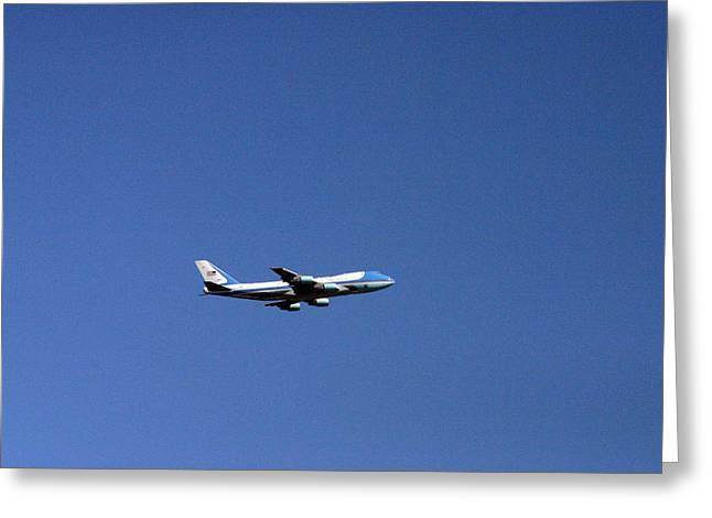 President Obama Greeting Cards - Air Force One Greeting Card by Duncan Pearson