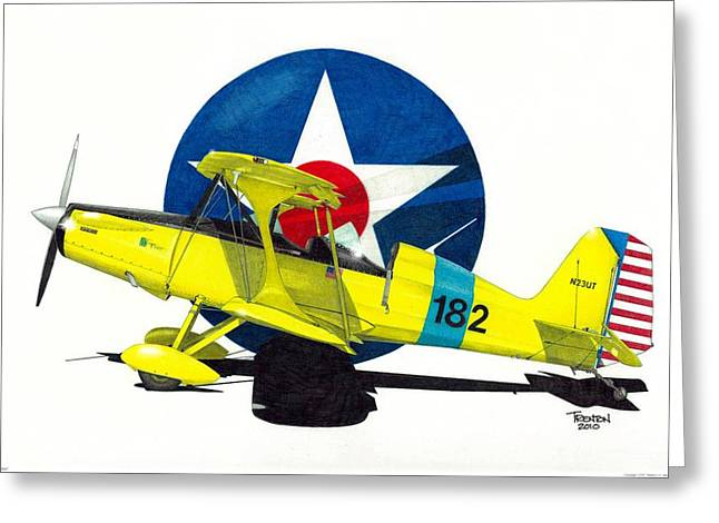 Tail-draggers Greeting Cards - Air Force Starduster Greeting Card by Trenton Hill