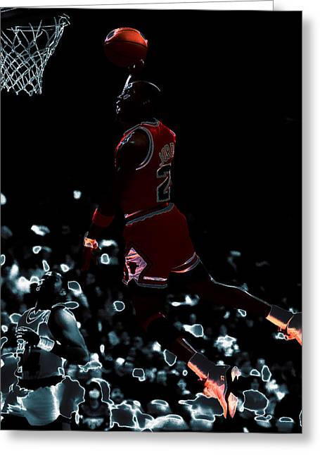 John Stockton Digital Art Greeting Cards - Air Jordan 03t Greeting Card by Brian Reaves
