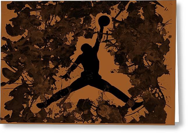 Fame Greeting Cards - Air Jordan 1a Greeting Card by Brian Reaves