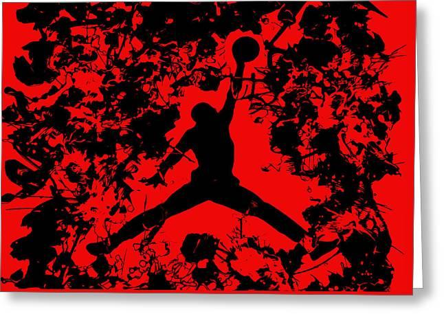 Air Jordan 1b Greeting Card by Brian Reaves