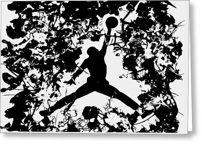Nike Greeting Cards - Air Jordan 1c Greeting Card by Brian Reaves