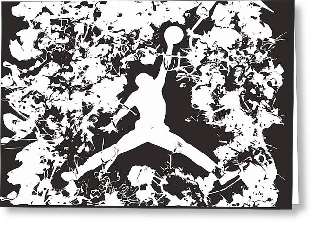 Nike Greeting Cards - Air Jordan 1d Greeting Card by Brian Reaves