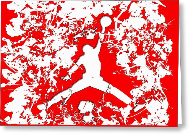 Nike Greeting Cards - Air Jordan 1e Greeting Card by Brian Reaves
