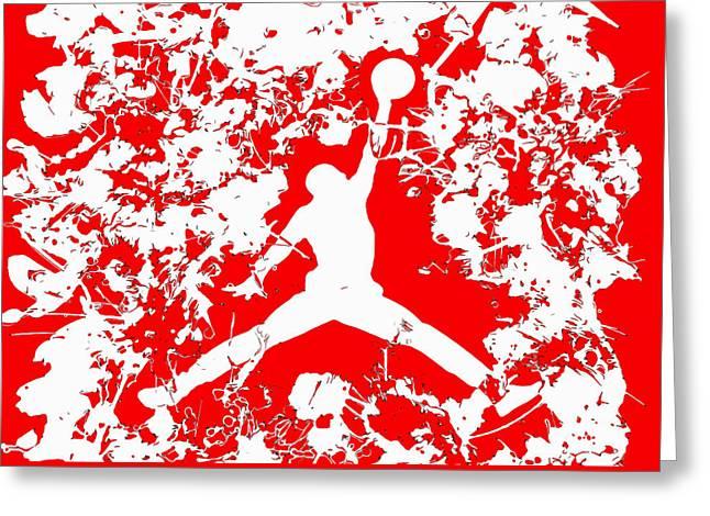 Nike Greeting Cards - Air Jordan 1f Greeting Card by Brian Reaves
