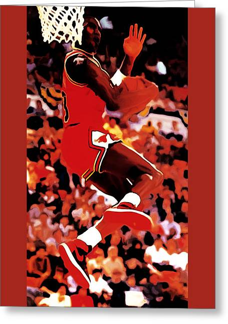 Air Jordan Cradle Dunk Greeting Card by Brian Reaves
