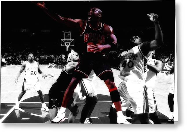 Recently Sold -  - Patrick Ewing Greeting Cards - Air Jordan Easy II Greeting Card by Brian Reaves