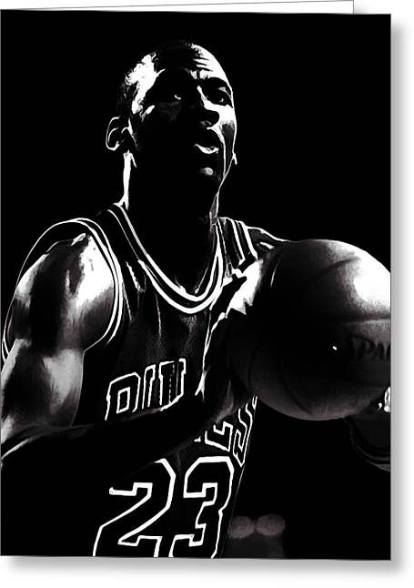 Michael Jordan Greeting Cards - Air Jordan Every Point Coubts Greeting Card by Brian Reaves