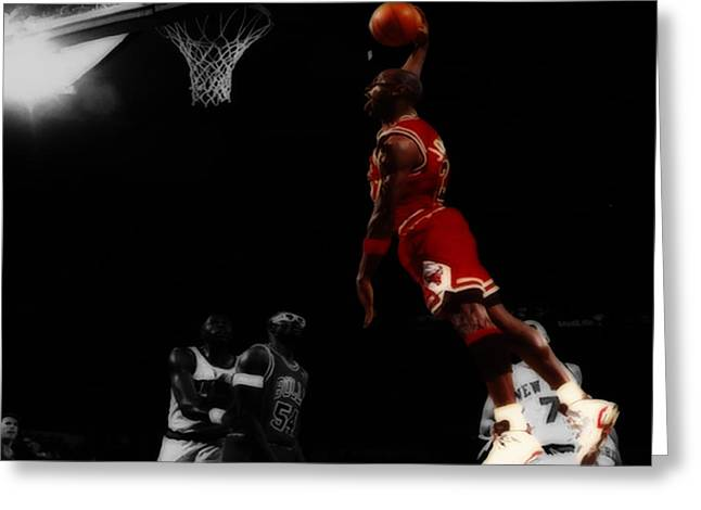 Michael Jordan Greeting Cards - Air Jordan Glide Greeting Card by Brian Reaves