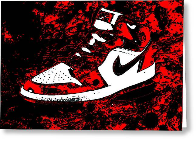 Air Jordan I Notorious Greeting Card by Brian Reaves