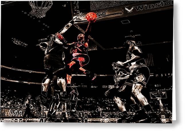 Pippen Digital Art Greeting Cards - Air Jordan Left Hand Greeting Card by Brian Reaves