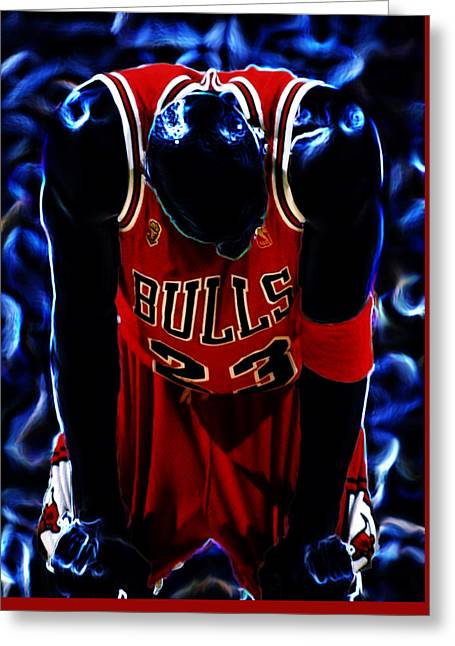 John Stockton Greeting Cards - Air Jordan Never Quit Greeting Card by Brian Reaves