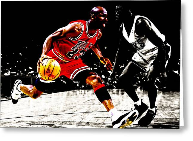 Air Jordan Shake And Bake Greeting Card by Brian Reaves