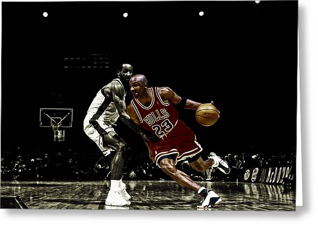 Nike Greeting Cards - Air Jordan Shake Greeting Card by Brian Reaves
