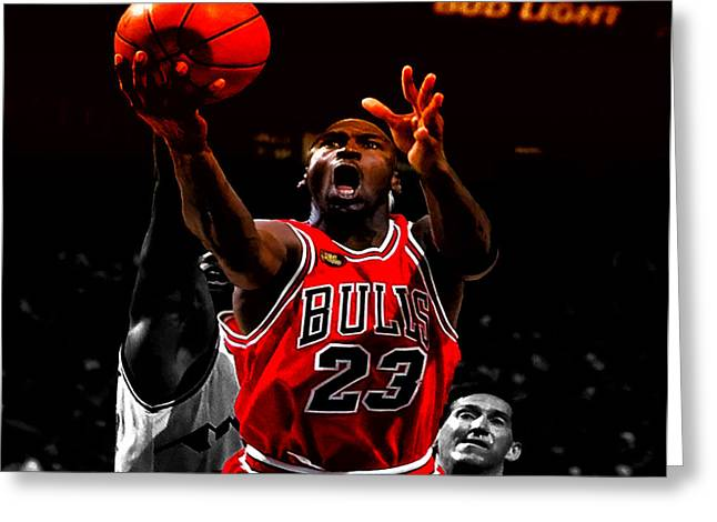 Michael Jordan Greeting Cards - Air Jordan Soft Touch II Greeting Card by Brian Reaves