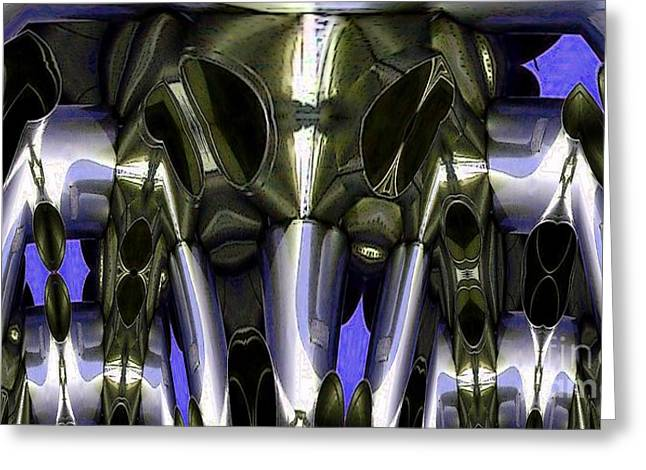 Distortion Greeting Cards - Air Raid Horns Greeting Card by Ron Bissett
