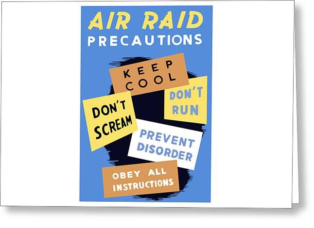 Air Raid Precautions Greeting Card by War Is Hell Store