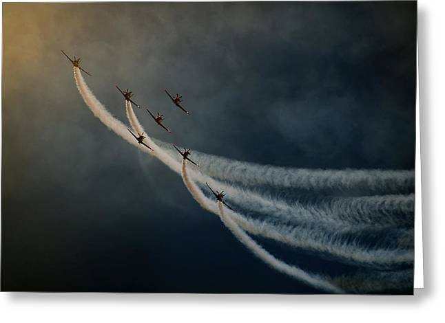 Aviation Greeting Cards - Air Show. Greeting Card by Antonio Grambone