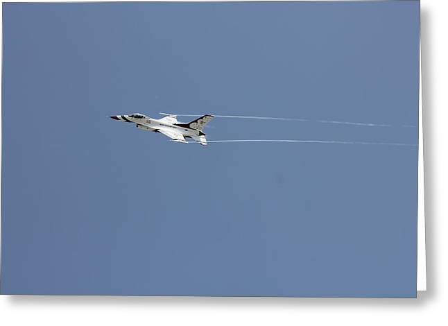 Shows Pyrography Greeting Cards - Air Show Greeting Card by Michael Dillard