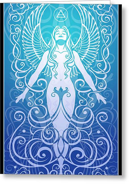 Meditation Digital Greeting Cards - Air Spirit Greeting Card by Cristina McAllister