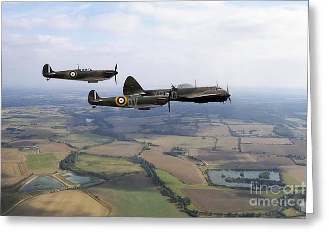 Royal Art Greeting Cards - Airborne Blenheim Greeting Card by J Biggadike