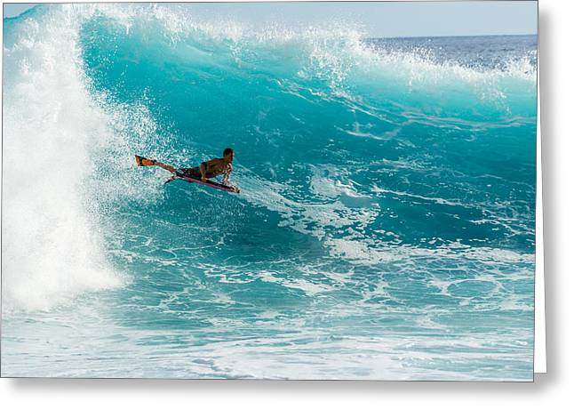 Surfing Art Greeting Cards - Airborne  Greeting Card by Chris and Wally Rivera