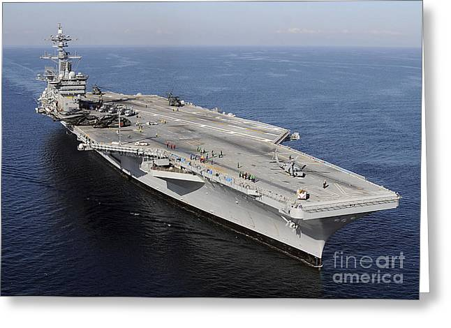 Nimitz-class Greeting Cards - Aircraft Carrier Uss Carl Vinson Greeting Card by Stocktrek Images
