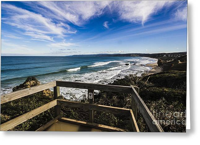 Aireys Inlet Lookout Greeting Card by Jorgo Photography - Wall Art Gallery