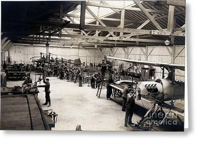 Airplane Manufacturing  Greeting Card by Jon Neidert