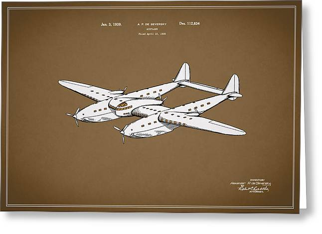 Airplane Greeting Cards - Airplane Patent 1939 Greeting Card by Mark Rogan
