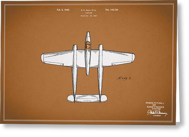 Airplane Greeting Cards - Airplane Patent 1946 Greeting Card by Mark Rogan