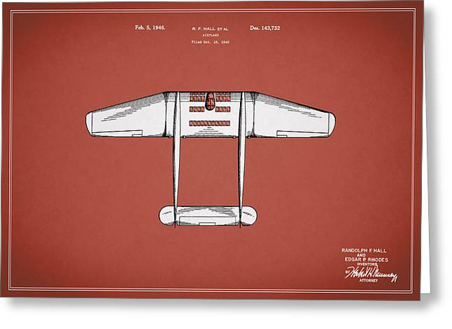Airplane Greeting Cards - Airplane Patent From 1946 Greeting Card by Mark Rogan