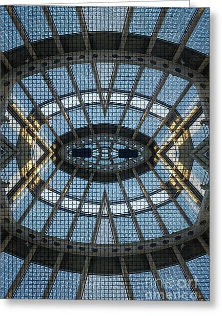 Airport Greeting Cards - Space Age Abstraction Greeting Card by Caffrey Fielding