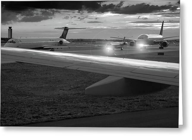 Airport Tarmac Greeting Card by Steve Gadomski