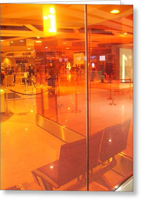 Basis-chakra Greeting Cards - Airport-Terminal Greeting Card by Ramon Labusch