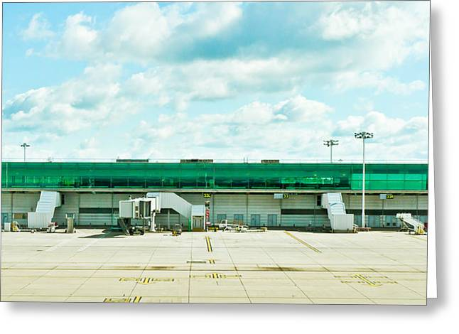 Airfield Greeting Cards - Airport terminal Greeting Card by Tom Gowanlock