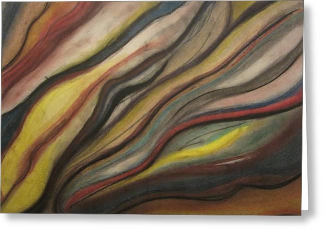 Flowing Pastels Greeting Cards - Airstream Greeting Card by Maggie Kerrigan