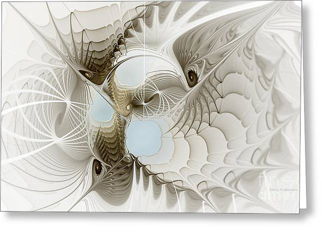Delicacy Greeting Cards - Airy Space2 Greeting Card by Karin Kuhlmann