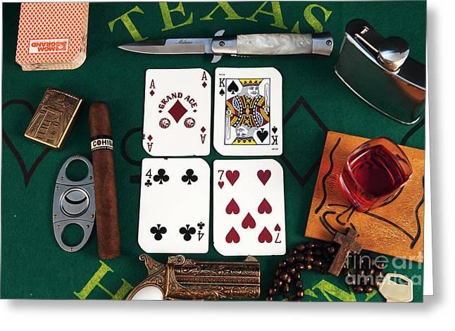 Ak 47 Greeting Cards - Ak-47 Greeting Card by John Rizzuto