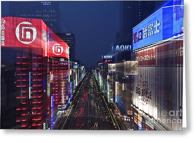 Advertising Office Greeting Cards - Akihabara District in Tokyo Greeting Card by Rob Tilley