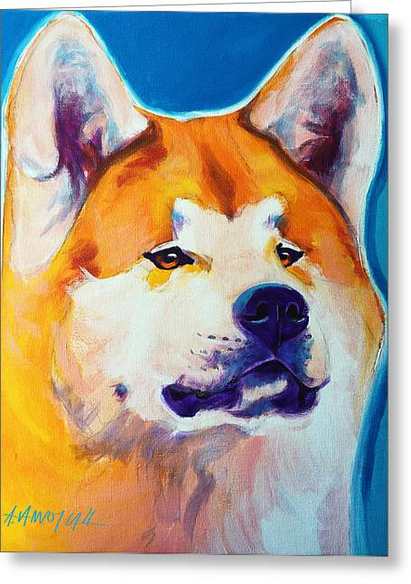 Alicia Vannoy Call Paintings Greeting Cards - Akita - Apricot Greeting Card by Alicia VanNoy Call