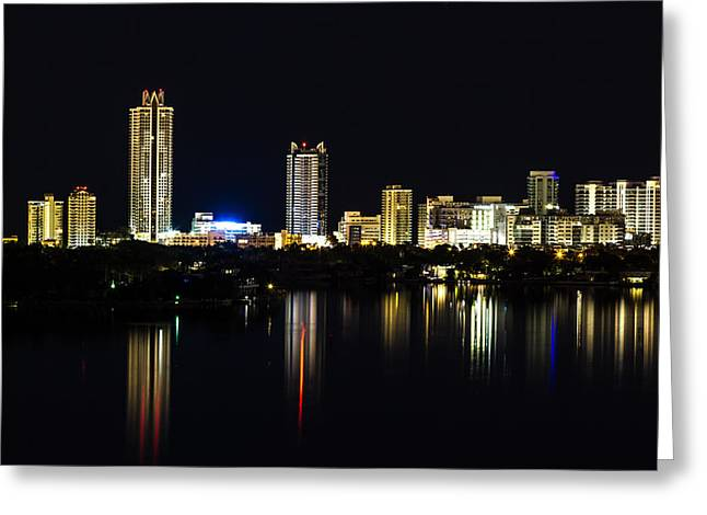 View Pyrography Greeting Cards - Akoya Condominiums  Greeting Card by Satoshi Kina