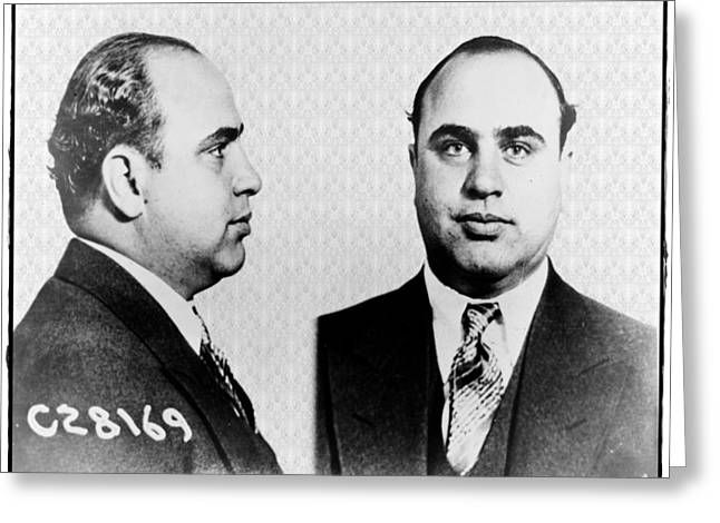 Al Capone Greeting Cards - Al Capone Greeting Card by Bill Cannon